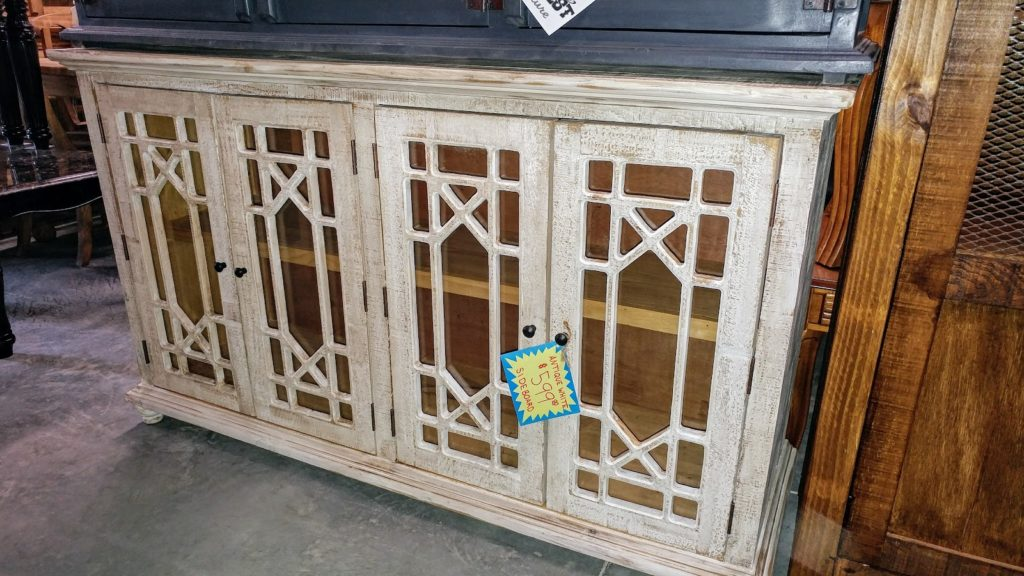 Barter Post - Old White Accent Sideboard Rainsville AL