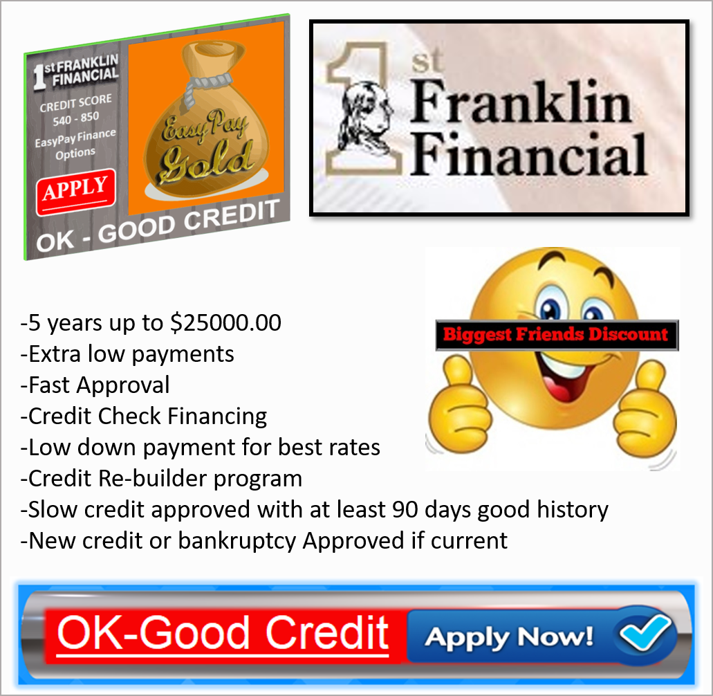 Apply EasyPay - OK to Good Credit Financing